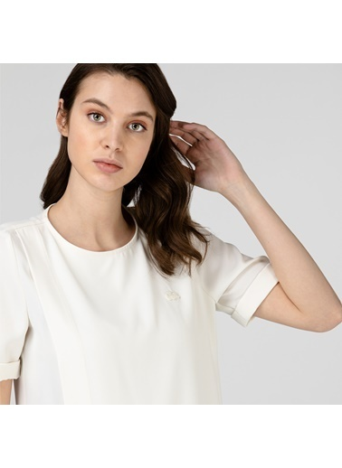 Lacoste Kadın Kısa Kollu Bluz QF0106.06B Beyaz